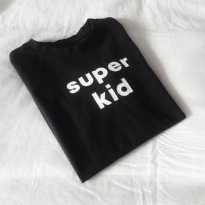 Organic Cotton Black Super Kid Tee