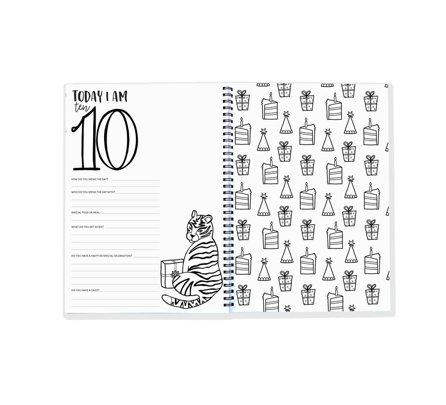 Blueberry Co The Monochrome Birthday Book - Mumma and Mia