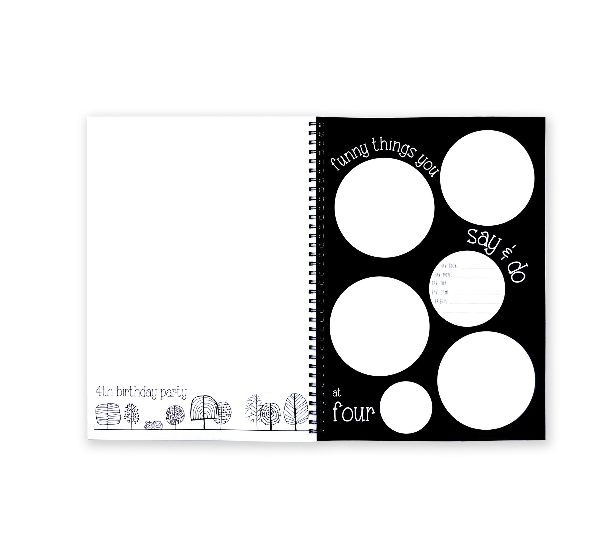 Blueberry Co The Monochrome Baby Memory Book - Mumma and Mia