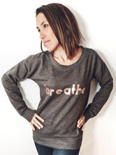 Load image into Gallery viewer, Rose Gold Breathe Grey Jumper