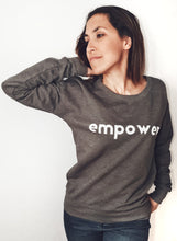 Load image into Gallery viewer, Super Mumma Grey Jumper with White Empower to help mums feel positive and empowered