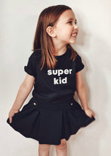 Load image into Gallery viewer, Super Mumma Black Organic Cotton Kids Super Kid T Shirt