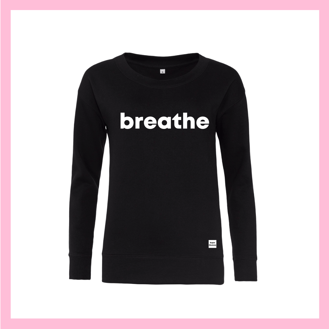 White Breathe Black Jumper