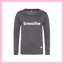 Load image into Gallery viewer, White Breathe Grey Jumper