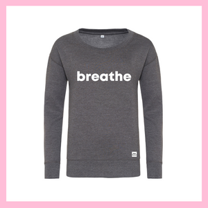 White Breathe Grey Jumper