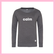 Load image into Gallery viewer, White Calm Grey Jumper
