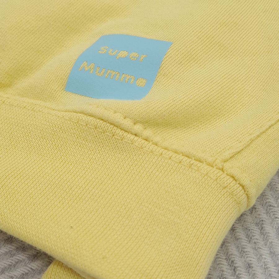Yellow and Baby Blue  Strong Hoodie
