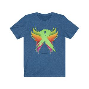Lymphoma Cancer - Green Ribbon with Wings - Lymphoma Cancer Unisex T-Shirt