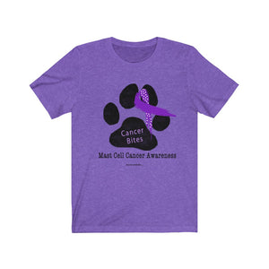 Canine Cancer - Mast Cell Cancer - Cancer Bites Unisex T-Shirt