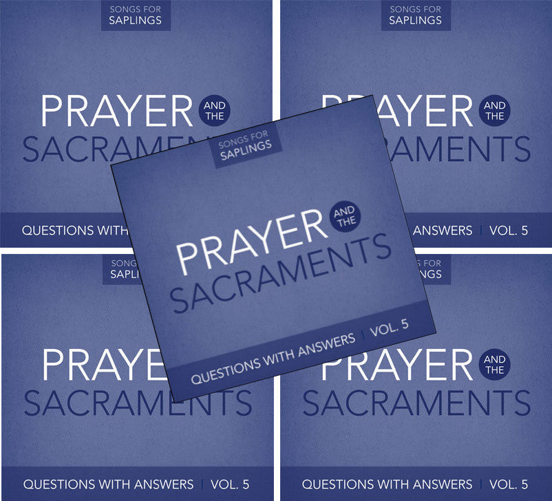 5-Pack: Questions with Answers Vol. 5: Prayer and the Sacraments (CD Format - Special Church Partner Pricing)