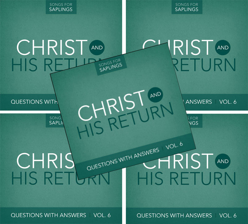 5-Pack: Questions with Answers Vol. 6: Christ and His Return (CD Format - Special Church Partner Pricing)