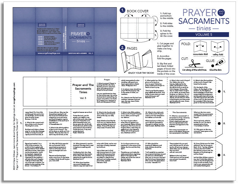 Prayer and the Sacraments Tinies Vol. 5 (printable)