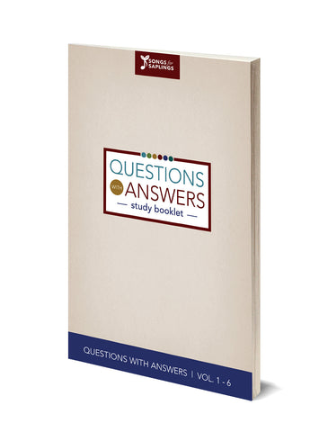 The Questions with Answers Study Booklet PDF - Printer friendly version