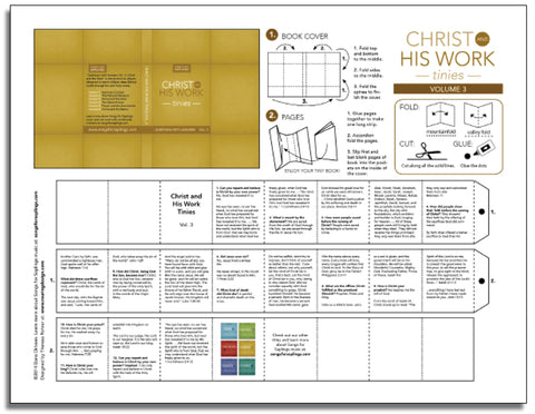 Christ and His Work Tinies Vol. 3 (printable)