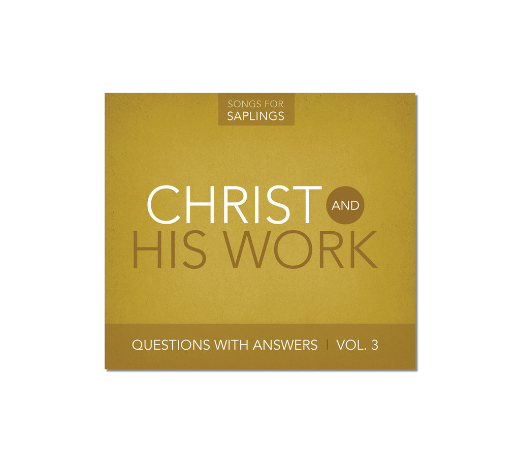 Questions with Answers Vol. 3: Christ and His Work (CD Format)