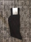 """Diagonal Plaid"" 5 Pair Solid Black Bundle"