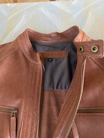 """Fast Track"" Short Leather Jacket"
