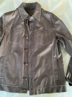"""Graticola"" Shirt Leather Jacket"