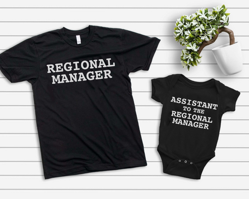 Regional Manager + Assistant to the regional manager / Adult + Infant or Toddler - Happy momma merch
