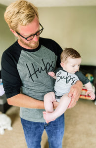 Hubs and Bubs Raglan / Infant + Adult set - Happy momma merch