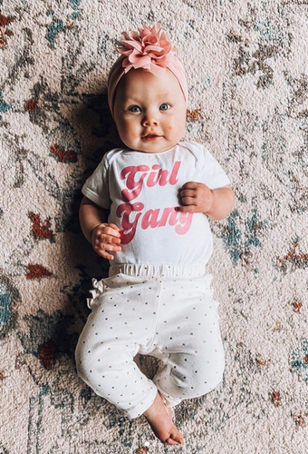 Vintage font Girl Gang / Infant or Toddler - Happy momma merch