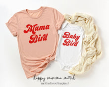 Load image into Gallery viewer, Mama bird baby bird / Mommy and me set - Happy momma merch