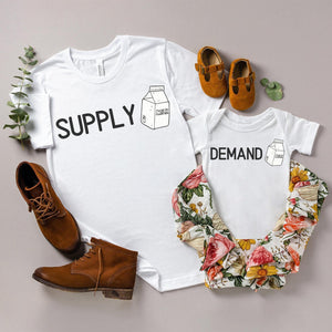 Supply and demand funny mommy and me set