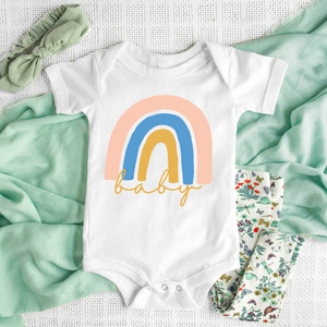 Rainbow baby bodysuit, rainbow baby onesie - Happy momma merch