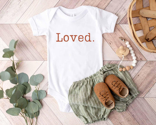 Loved. / Infant-Toddler bodysuit or shirt - Happy momma merch