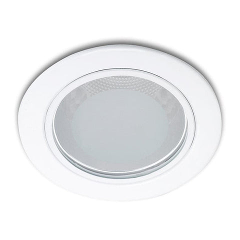 13803 Glass recessed white 1x11W 230V