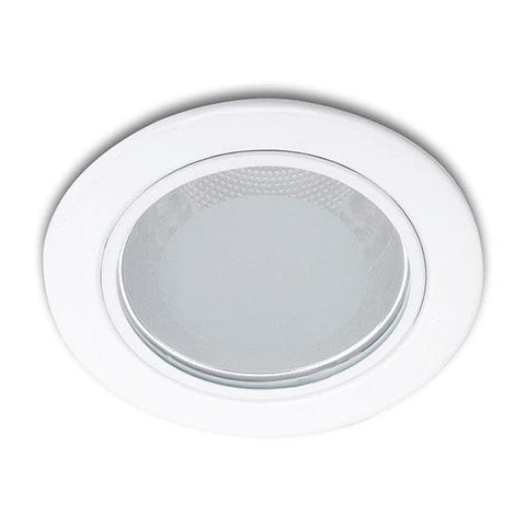 13804 Glass recessed nickel 1x18W 230V
