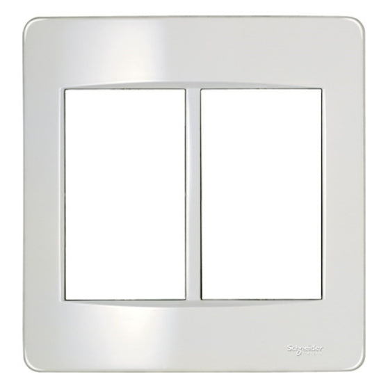 TWIN FLUSH PLATE WITH PLASTIC GRID