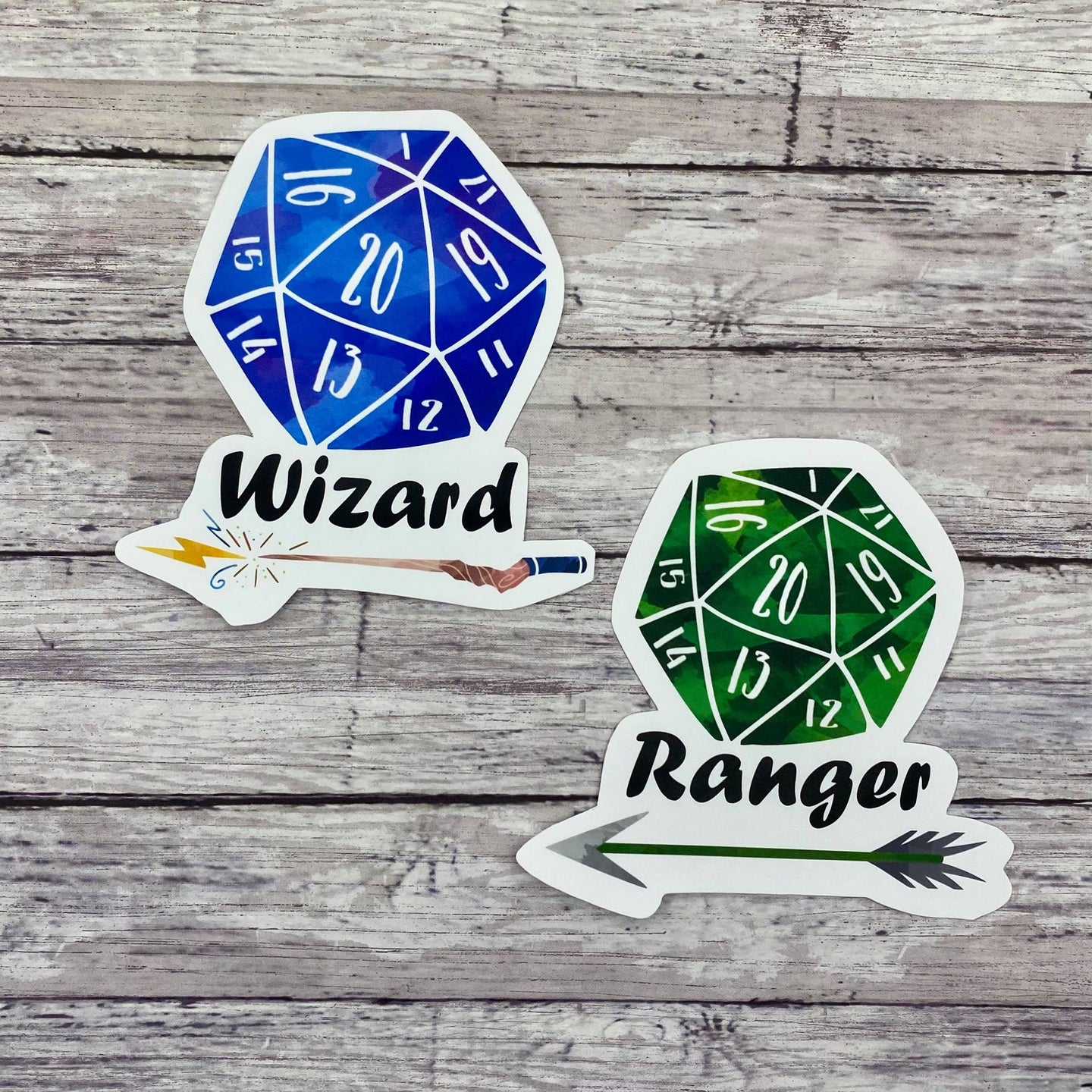 D20 RPG Die Cut Sticker