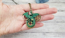 Load image into Gallery viewer, Large Steampunk Dragon Pendant