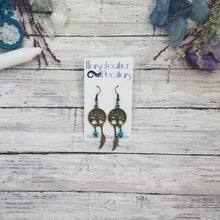 Load image into Gallery viewer, Bronze Tree of Life Gemstone Earrings