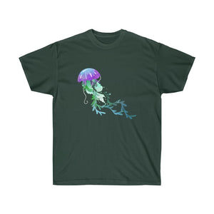 Purple Jellyfish Unisex Gildan Tee