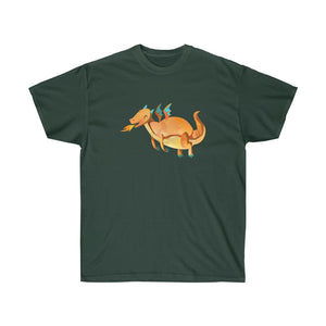 Orange Flying Dragon Unisex Gildan Tee