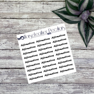 Affirmations Script Planner Stickers