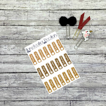 Load image into Gallery viewer, Date Cover Planner Stickers