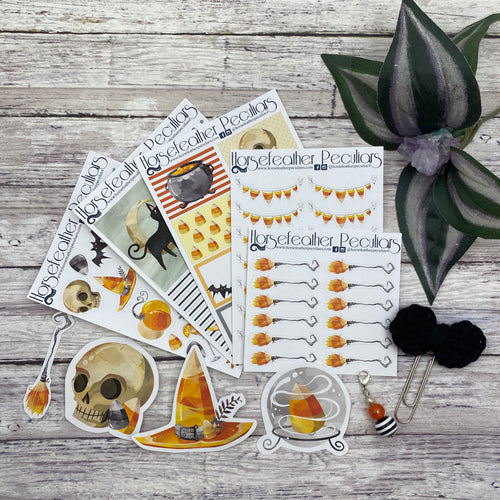 Candy Corn Witch Planner Sticker Kit