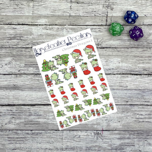 Christmas Dragon 1 Planner Stickers