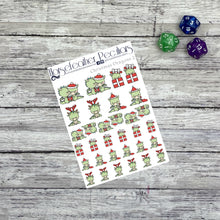 Load image into Gallery viewer, Christmas Dragon 2 Planner Stickers