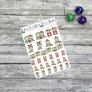 Christmas Dragon 2 Planner Stickers