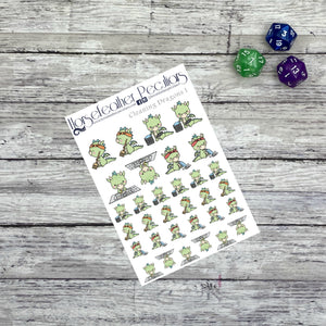 Cleaning Dragons Planner Stickers