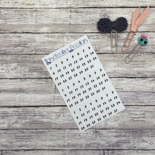 Date Dot Planner Stickers