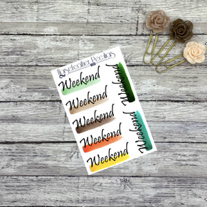 Weekend Banner Planner Stickers
