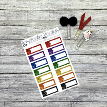 Load image into Gallery viewer, Glitter Quarter Box Planner Stickers