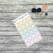 Load image into Gallery viewer, Glitter Square Planner Stickers