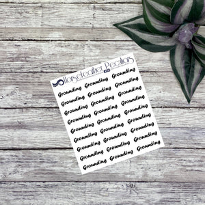Grounding Script Planner Stickers