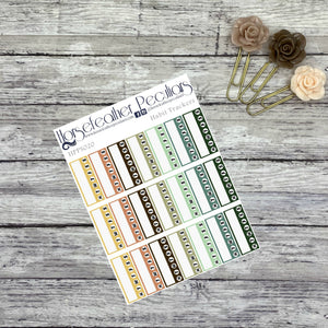 Habit Trackers Planner Stickers